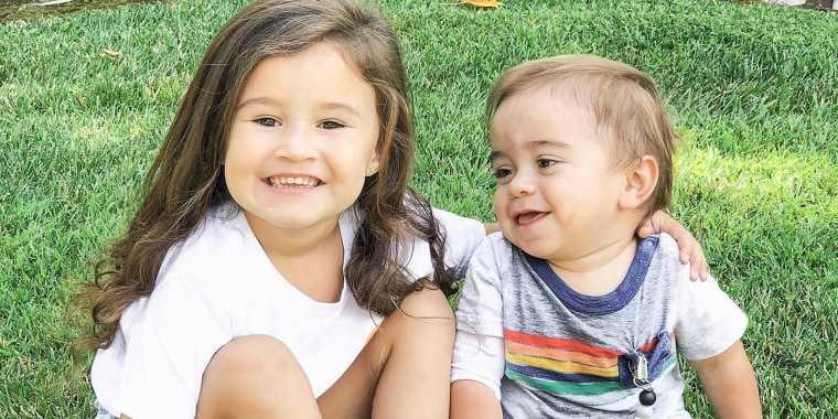 """Siblings Olivia and Eli Vasquez have a special bond after the transplant. """"She's so proud that he is made up with her cells,"""" their mom said."""