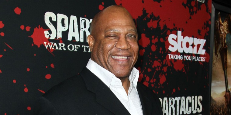 """Tommy 'Tiny' Lister arrives at the premiere of """"Spartacus: War of the Damned"""" in Los Angeles on Jan. 22, 2013."""