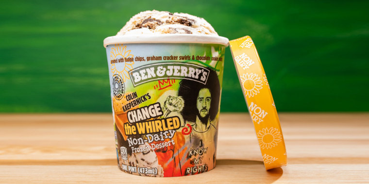 Kaepernick is a vegan, and his Ben & Jerry's collaboration reflects that stance.