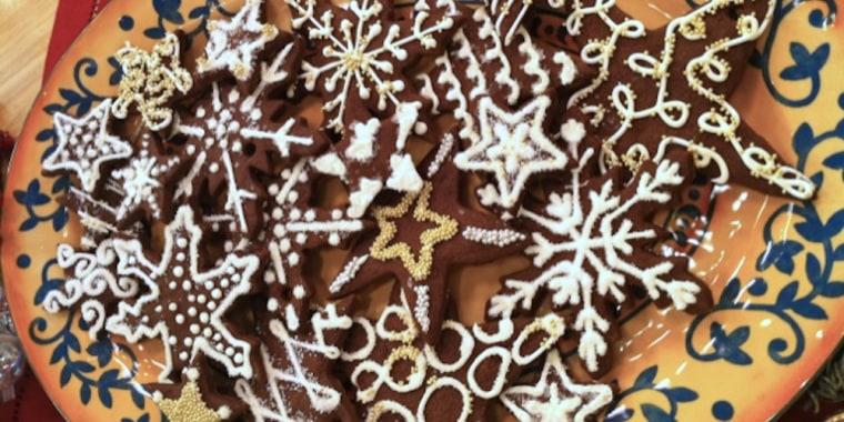 Lidia Bastianich's Chocolate Star Cookies