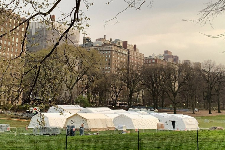 Samaritan's Purse's field hospital in New York's Central Park on Monday, March 30, 2020.