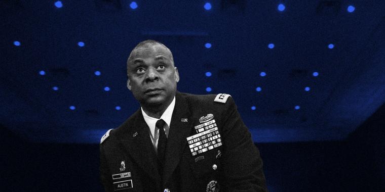 Image: Gen. Lloyd Austin III prepares to sit