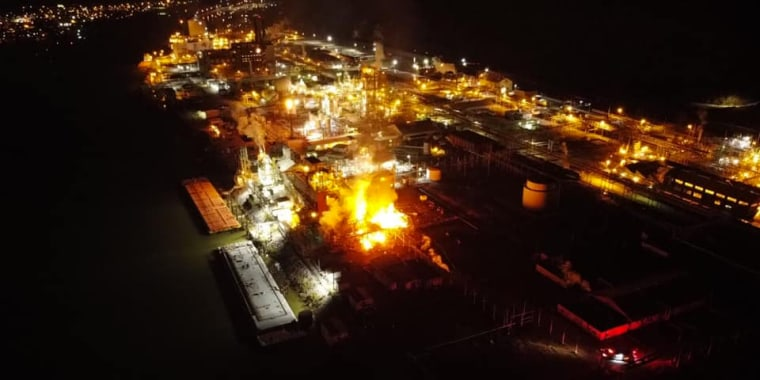 Image: Chemours Bell Plant fire
