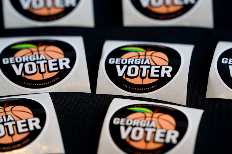 Georgia Residents Cast Ballots As Early Voting For U.S. Presidential Election Begins