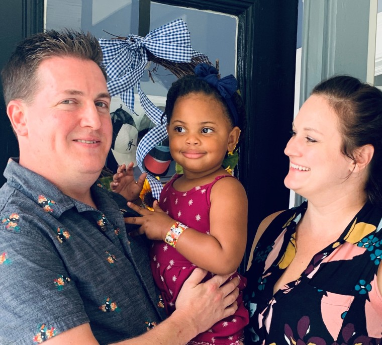 Leigh Anne O'Toole, with her husband Sean and daughter, Emerson.