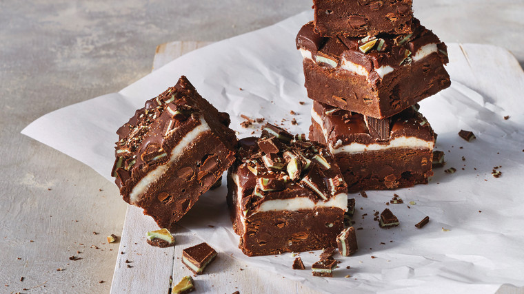 Dark Chocolate Mint Brownies, OH Siriously Delicious