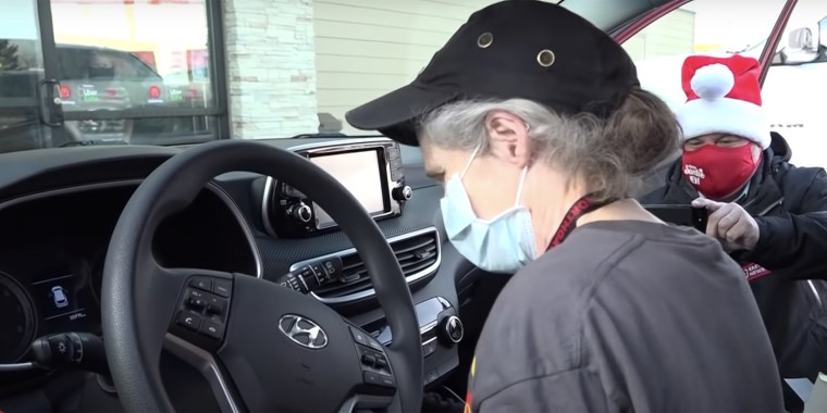 Before Diana clocks in at the McDonald's on Yellowstone Highway each morning, she and her husband deliver 150 local newspapers around the area.