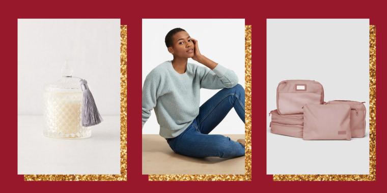 Urban Outfitters Chloe Glass Candle, Everlane Fleece, Calpak 5 Piece Packing Cube Set