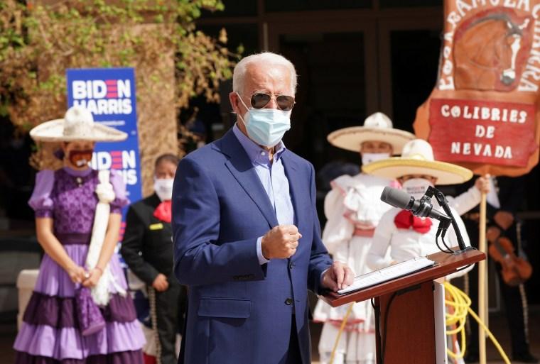 Image: Democratic U.S. presidential nominee Biden campaigns in Las Vegas, Nevada