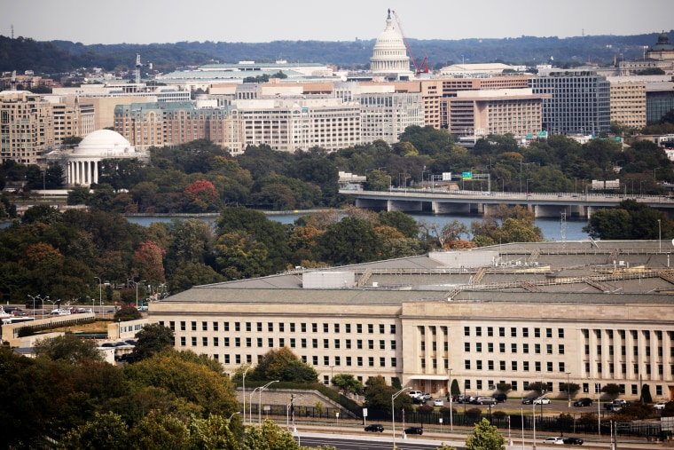 The Pentagon building is seen in Arlington, Virginia, U.S.