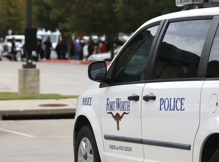 Image: A Fort Worth Police car.