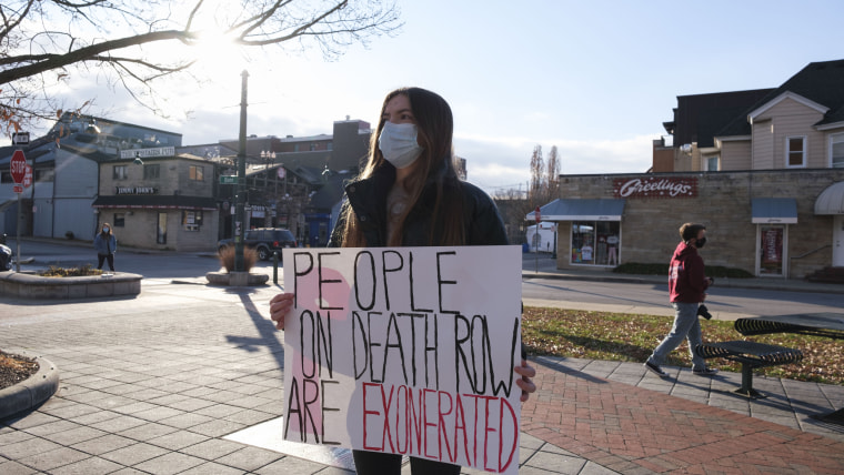 Image: Death penalty protest