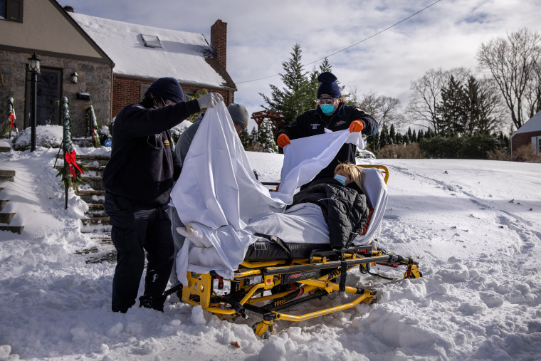 Image: BESTPIX - EMS Medics Treat And Transport Covid-19 Patients In Westchester County As Pandemic Surges Nationwide