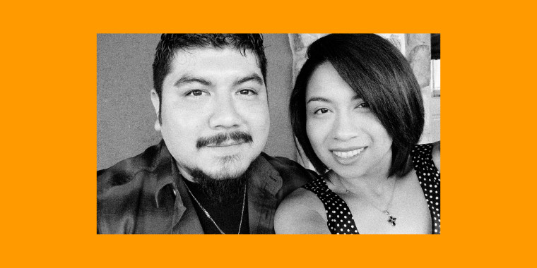 Image: Ray and Matilda Cisneros, had been married three years. Ray had insisted he didn't want to marry or have kids, but met Matilda and fell in love and became stepfather to her two children.