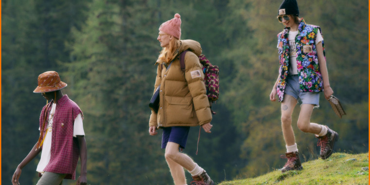 It may seem like an unexpected pairing, but the collaboration brings luxury fashion to the great outdoors.