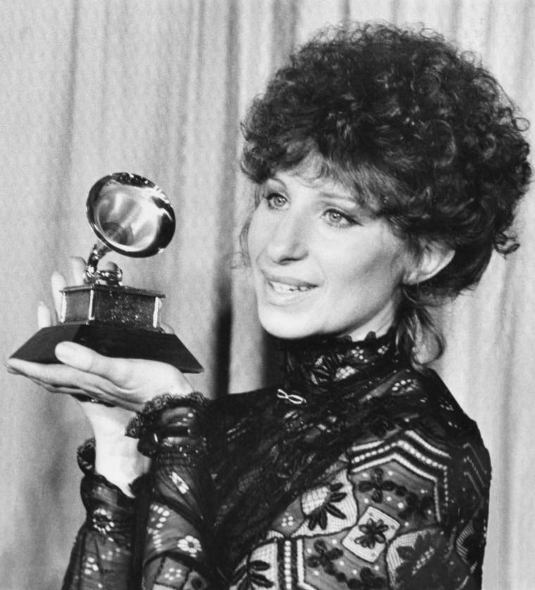 Barbra Streisand with Grammy
