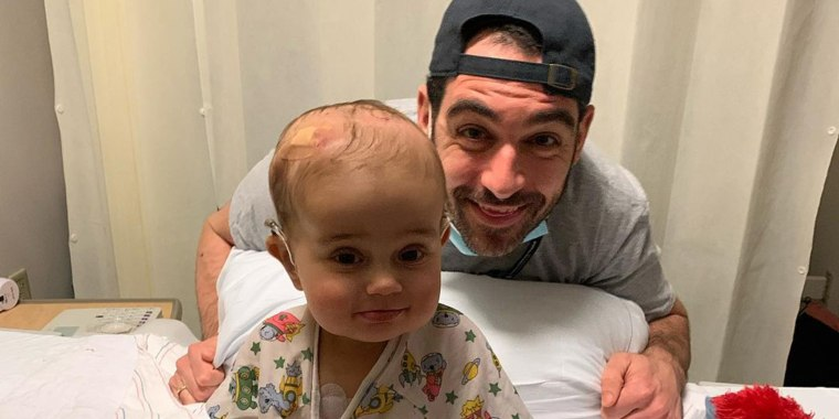 Andrew Kaczynski and his daughter, Francesca.