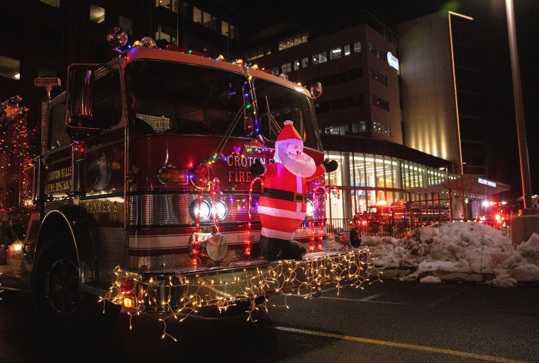 Westchester Police, Fire and EMS Bring 'Blue Santa' to Children's Hospital