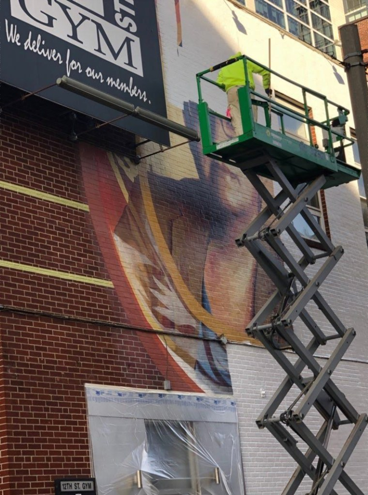 The mural was painted over without warning on the morning of December 23.