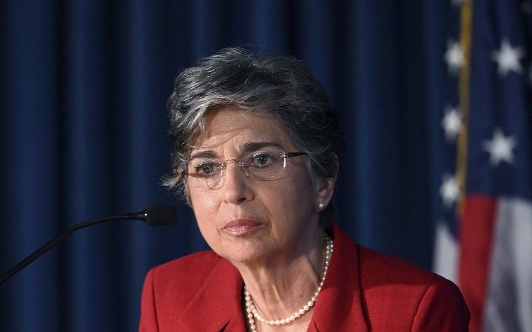 Audrey Strauss during a news conference in New York on  July 2, 2020.