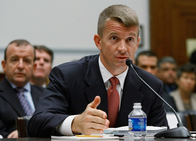 Image: Erik Prince, chairman of the Prince Group, LLC and Blackwater USA, tesifies during a House Oversight and Government Reform Committee hearing on Capitol Hill