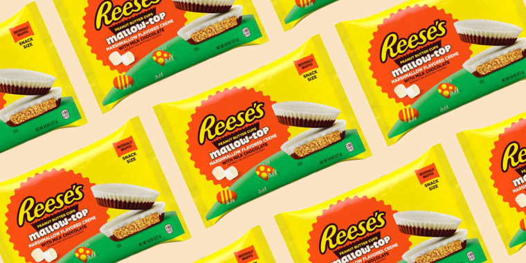 The newest Reese's peanut butter cups are topped with marshmallow!