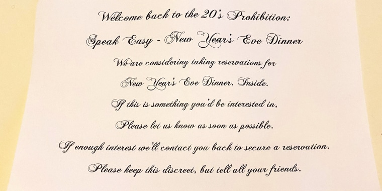 Photo of restaurant invite