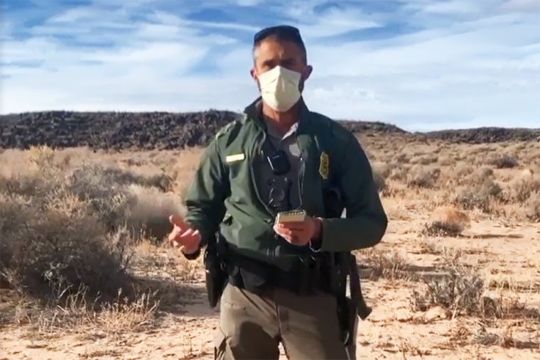 A park ranger asks Darrell House to identify himself before tasing him at Petroglyph National Monument in Albuquerque, N.M., on Dec. 27, 2020.