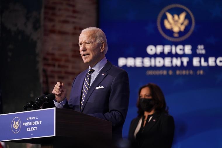 Image: President-elect Joe Biden speaks at The Queen theater