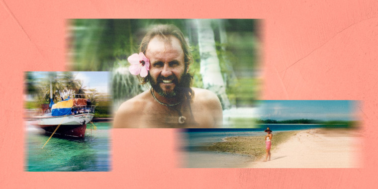Image: Photos of Roger Lextrait when he lived, in total isolation, on an atoll 100 miles from Hawaii.