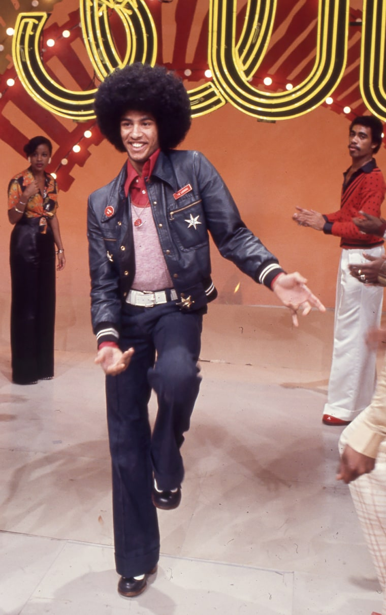 Image: Popular dancer Adolfo Quinones aka Shabba Doo boogies down the Soul Train Line.