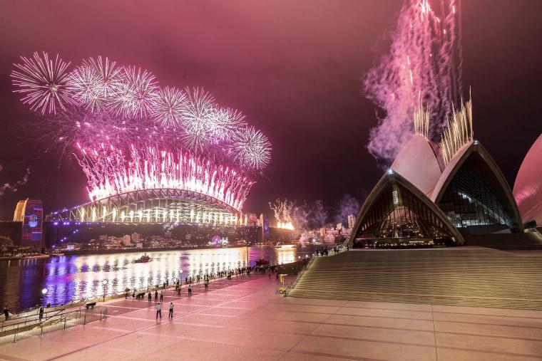 Image: Australians Celebrate New Year's Eve 2020