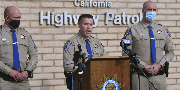 California Highway Patrol updates the media on Jan. 2 about a fatal New Year's Day crash on Highway 33 in Coalinga.