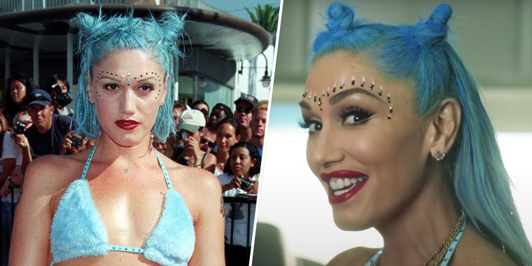 Stefani took fans on a walk down memory lane, re-creating many of her iconic styles in her new music video.