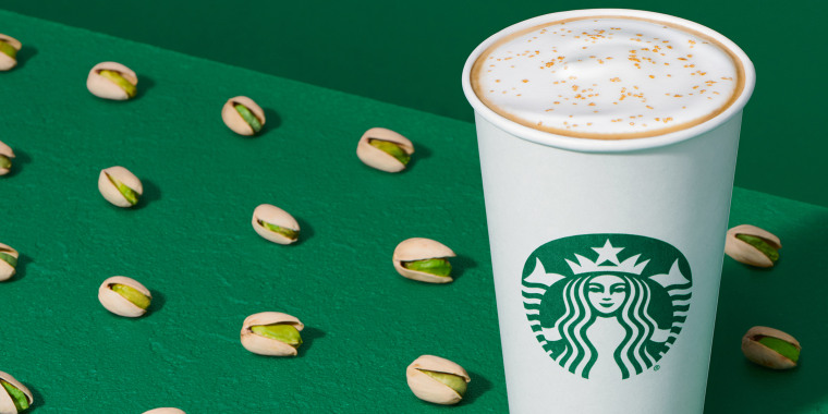 The Pistachio Latte is one of the new seasonal additions to the Starbucks menu.