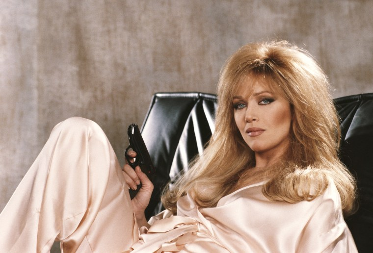 Image: American actress Tanya Roberts stars as Stacey Sutton in the James Bond film 'A View To A Kill', 1984.