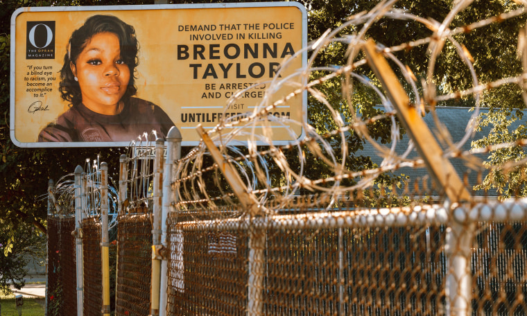 Image: Billboards Placed Across Louisville Call For The Arrest Of Police Officers Involved In Killing Of Breonna Taylor