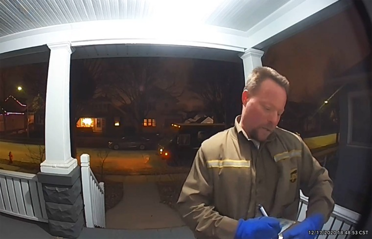 Image: UPS driver comments ring camera