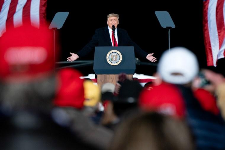 President Trump Campaigns For Republican Senate Candidates Loeffler And Perdue