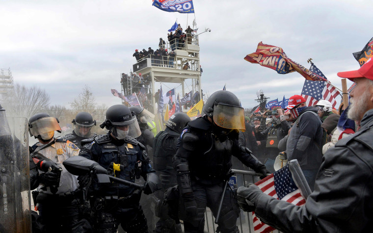 Image: Protesters clash with police at the Capitol on Jan. 6, 2021.