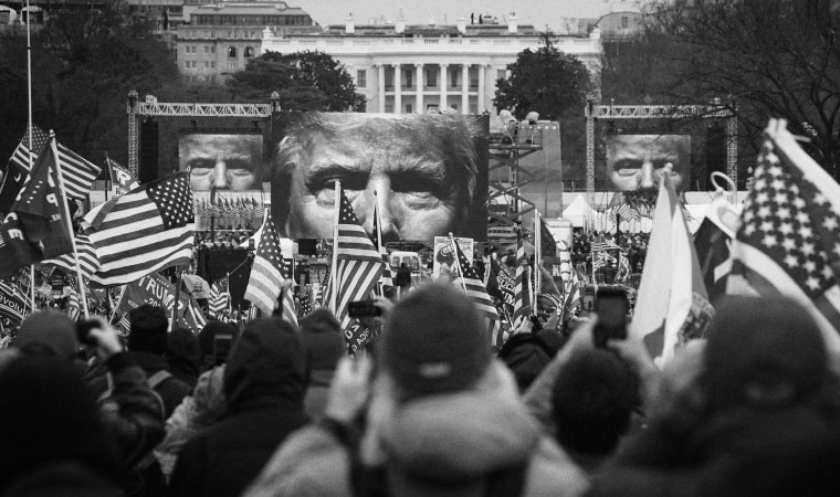 Image: Supporters gather for a rally for President Donald Trump near the White House on Jan. 6, 2021.