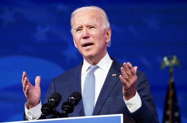 Image: U.S. president-elect Joe Biden speaks in Wilmington, Delaware
