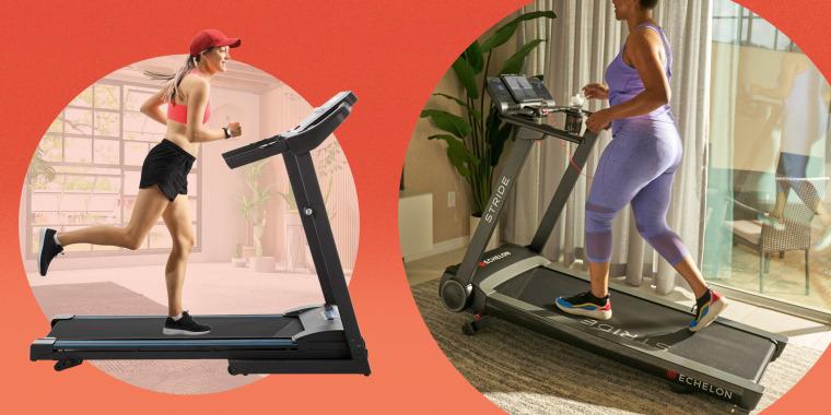 Illustration of two women on different treadmills