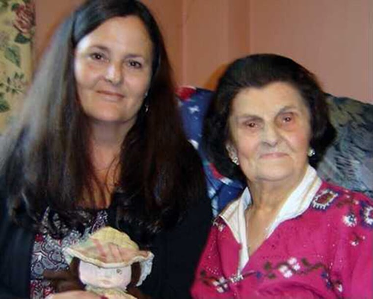 Mari Steed with her birth mother, Josephine Bassett, in 2010.