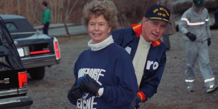 George Bush with Nancy Ellis