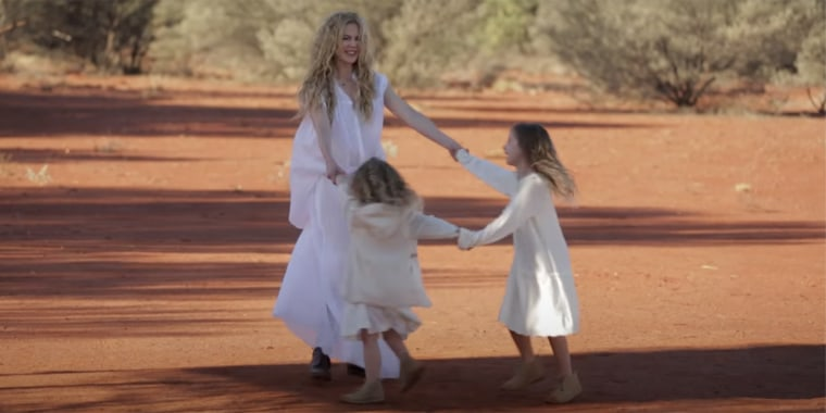 Nicole Kidman posted a throwback Vogue video to Instagram, giving her fans a rare glimpse of her youngest daughters, Sunday and Faith.