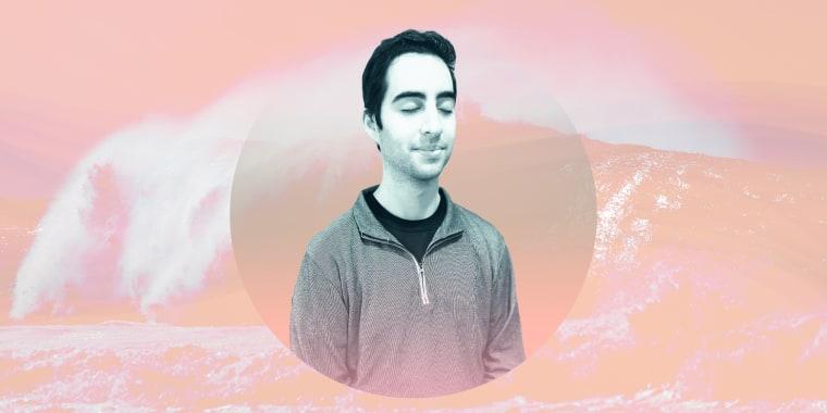 Illustration of Josh Harmon meditating