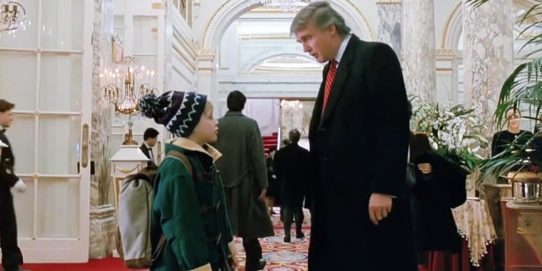 """President Donald Trump appeared in a scene in the lobby of The Plaza Hotel in """"Home Alone 2."""""""