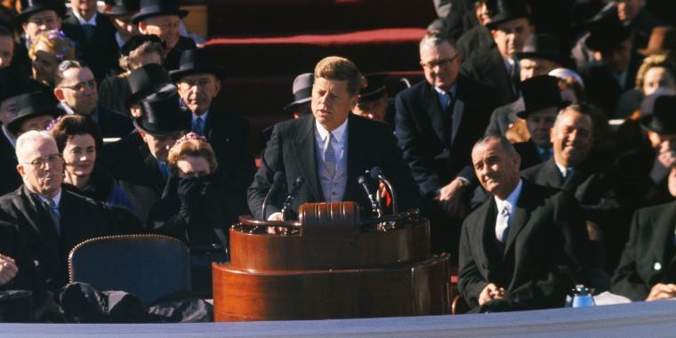 President John F. Kennedy Makes Inauguration Speech