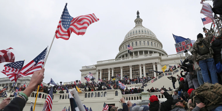 Image: The U.S. Capitol Building is stormed by a pro-Trump mob on January 6, 2021